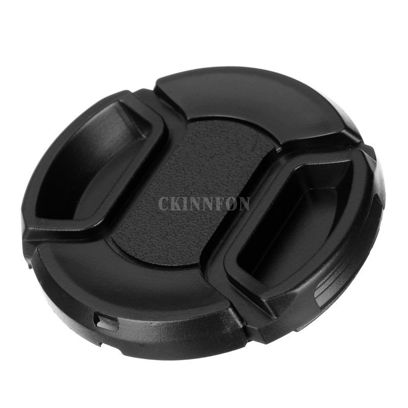 DHL 1000PCS Size 49mm 82mm Snap On Lens Front Camera Lens Cap Cover for Canon Nikon