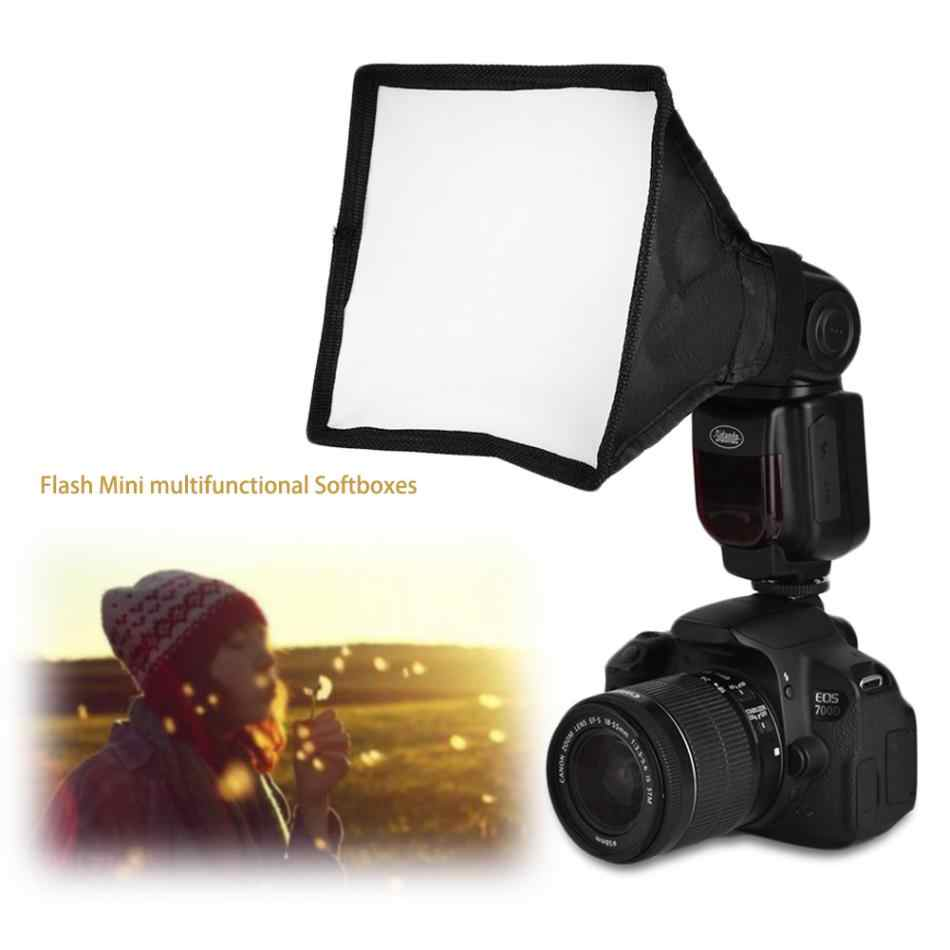 Acessórios de fotografia de 15*17 centímetros Portátil Multifuncional Kit Mini Softbox Caixa Macia Para Arma de Flash Speedlight