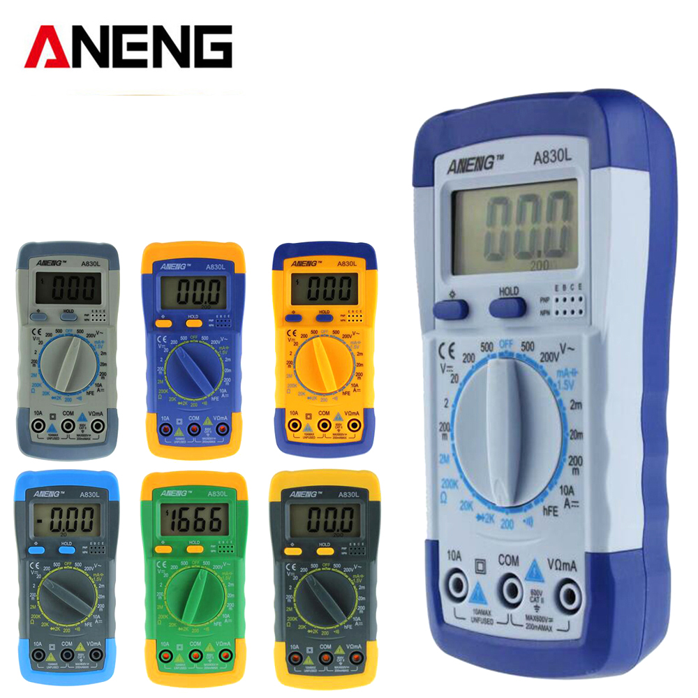 ANENG A830L digital multimeter LCD Digital Multimeter DC AC Voltage Diode Freguency Mini Multitester михаель бедфорд клифф тернер майк мэрин пэтти райан solid strangers джо локвуд italo disco collection 3 3 cd
