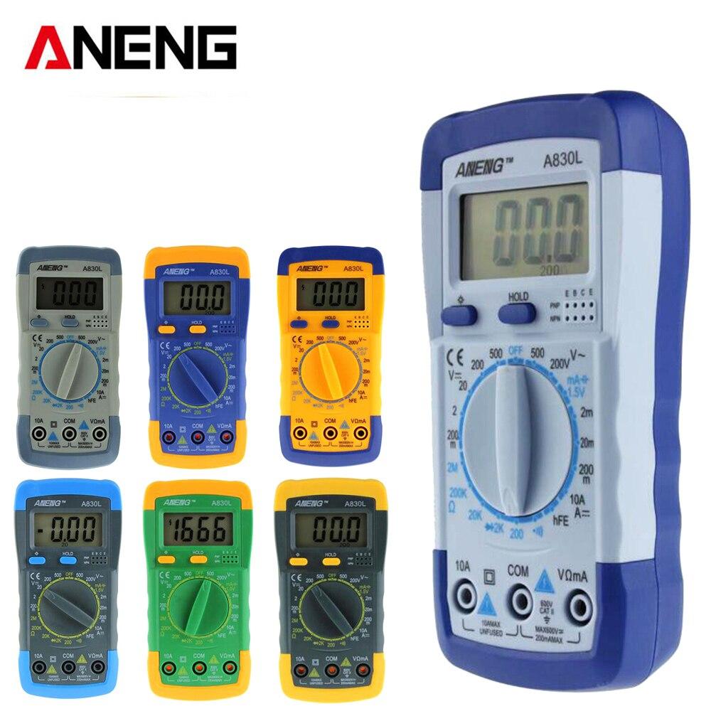 ANENG A830L digital multimeter LCD Digital Multimeter DC AC Voltage Diode Freguency Multitester 5# мультиметр fuke dt9205a ac dc lcd dt9205a