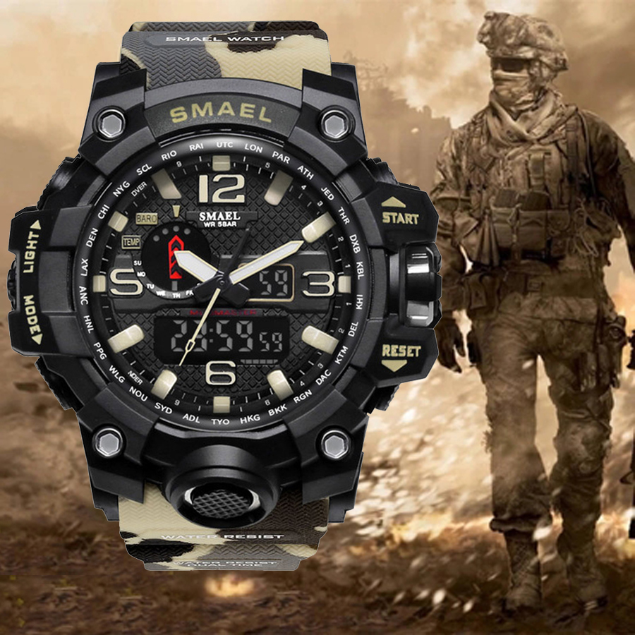 Army-Watch Shock G-Style SMAEL Military Sports Electronic Camouflage Men's Fashion LED