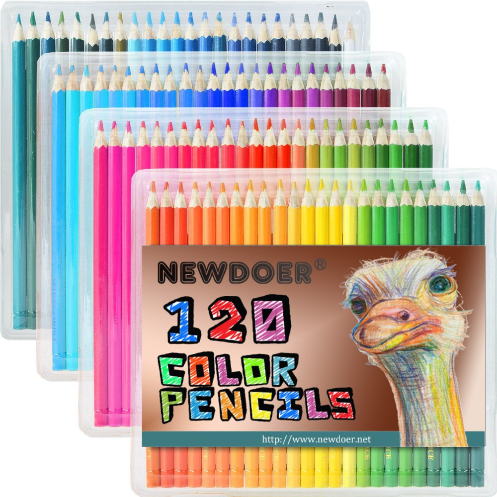 120 kinds of oil will not be repeated artistic painting color coloring pencil 120 color flashing color fluorescent metal Gel pen  цена и фото