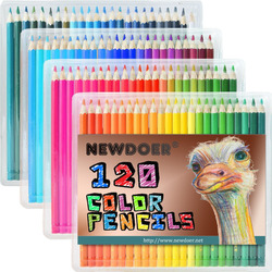 120 kinds of oil will not be repeated artistic painting color coloring pencil 120 color flashing color fluorescent metal Gel pen
