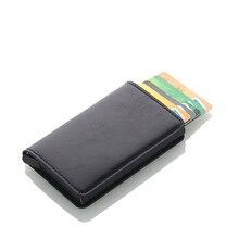 Wholesale Rfid Card Holder Men Wallets Money Bag Male Vintage Credit Card Holder 2019 Small Leather Smart Wallets Mini Wallets стоимость