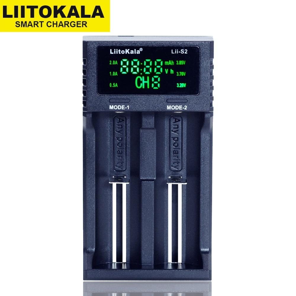 2019 Liitokala Lii-S2 LCD 3.7V 18650 18350 18500 16340 21700 20700B 20700 14500 26650 1.2V AA AAA NiMH lithium-battery Charger2019 Liitokala Lii-S2 LCD 3.7V 18650 18350 18500 16340 21700 20700B 20700 14500 26650 1.2V AA AAA NiMH lithium-battery Charger