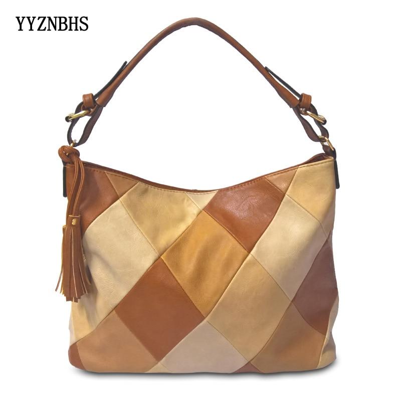 Fashion Bags For Women 2019 Luxury Handbags Women Bag Designer Stitching PU Soft Leather Shoulder Bag Crossbody Bags Top-Handle