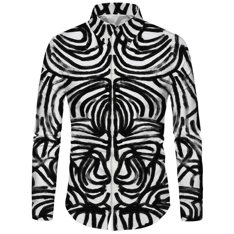 Generous Cloudstyle New Fashion Black White Shirt Scribble Linellae Animal Monkey Goku Men Anime Shirt Chinese Style Homme Camisa 2018 Attractive Fashion Men's Clothing Casual Shirts