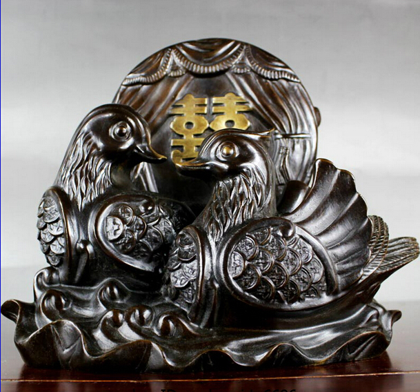 Collectible bronze lion statue S0853 Chinese Pure bronze Copper Feng Shui Auspicious Lucky Elephant one Pair B0403|elephant elephants|elephant collectible|elephant feng shui - title=
