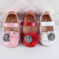 Spring Autumn Fashion Lace Flower Kids Small Shoes Toddler Baby Girls First Walkers Soft Sole Shoes Princess Shoes