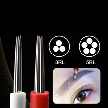 Disposable Microblading Tool Tattoo Needles 3RL/5RL Permanent Makeup Supplies Eyebrow Round Fog Needle Blade 50pcs