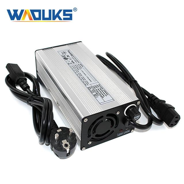 71.4 v 5a carregador rápido 17 s 62.9 v li ion bateria carregador inteligente com ventilador de refrigeração totalmente automático caso de alumínio