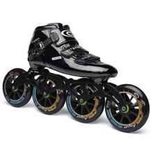 Cityrun וולקן מהירות Inline גלגיליות סיבי פחמן מקצועי תחרות סקייט גלגלי מירוץ החלקה Patines דומה Powerslide