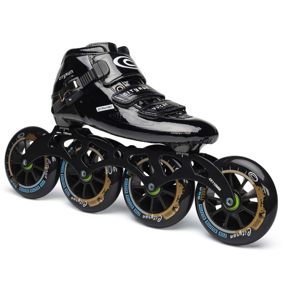 Japy Cityrun Speed Inline Skates Carbon Fiber Professional Competition 4 Wheels Racing Skating Patines Similar Powerslide