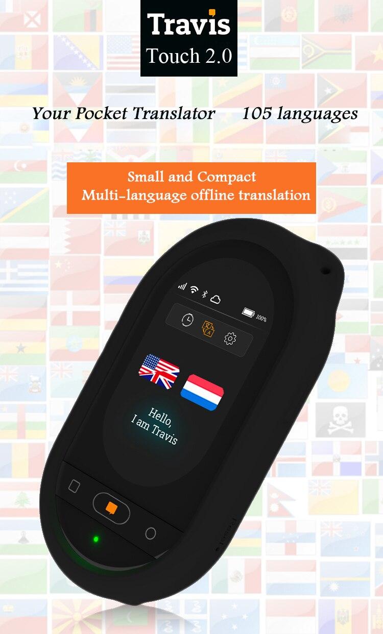 US $384 0 |Original Travis new version voice translator 105 languages touch  screen offline online translation Wifi 4G smart translator -in Translator