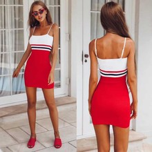 wholesale 2019 Newest Women dress Red blue pink Spaghetti Strap high quality Fashion mini celebrity bandage