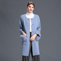 Our Superior Products 2018 Counter Genuine Mink Cashmere Female Small Fragrant Spring Coat High End Brand