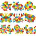 HIINST Best seller  Wooden Animal Jigsaw Letter Blocks Kid Learing Educational Toy Dec607 wholesale