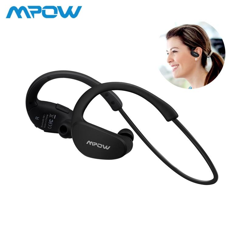 7ff9c3797b8 Mpow MBH6 Cheetah 4.1 Auriculares Auriculares Bluetooth AptX Deporte Auricular  Inalámbrico Auriculares Con Micrófono para iPhone Android Teléfono en ...
