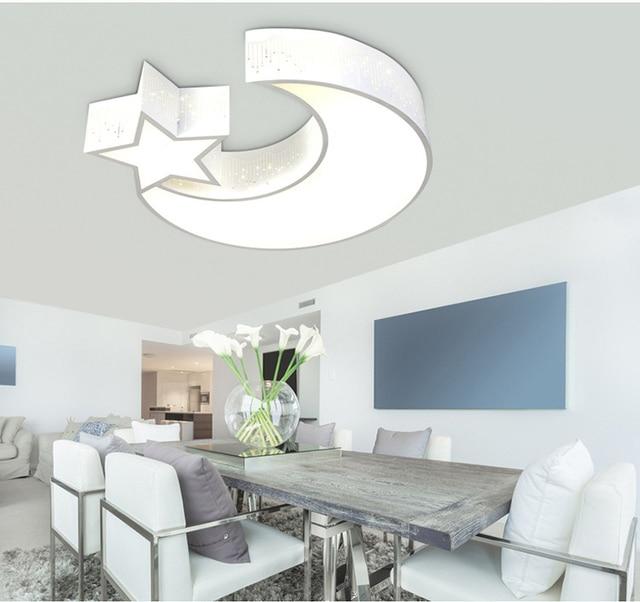 Lovely Moon Star Led Ceiling Lamp Children Kids Bedroom Creative - Star lights for bedroom ceiling