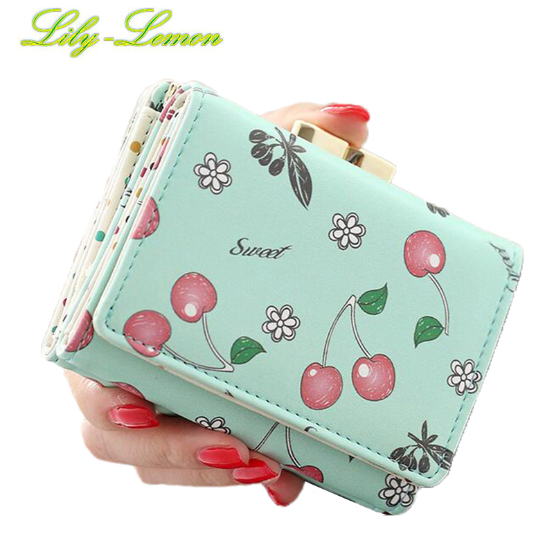 Women Cute Fruit Wallets Brand Designer Leather Ladies Short Summer Mini Wallets Teenage Girls Kids Coin Purse Card Holder W004 high quality leather cute women s wallets coin purse leather short women leather wallets girls best gift free shipping