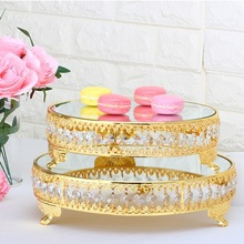 European metal birthday cake tray decoration  wedding dice table pendulum household Pendant 3061 Nordic fruit plate