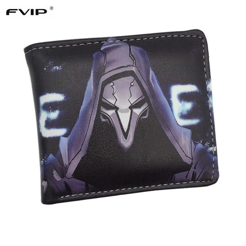 FVIP Comics Marvel Hero Deadpool /Game Overwatch/Game Cross Fire/DC The Joker Wallet With Card Holder Dollar Price Free Shipping 2016 new arrive pvc and pu leather purse american marvel comic deadpool wallet with card holder dollar price free shipping