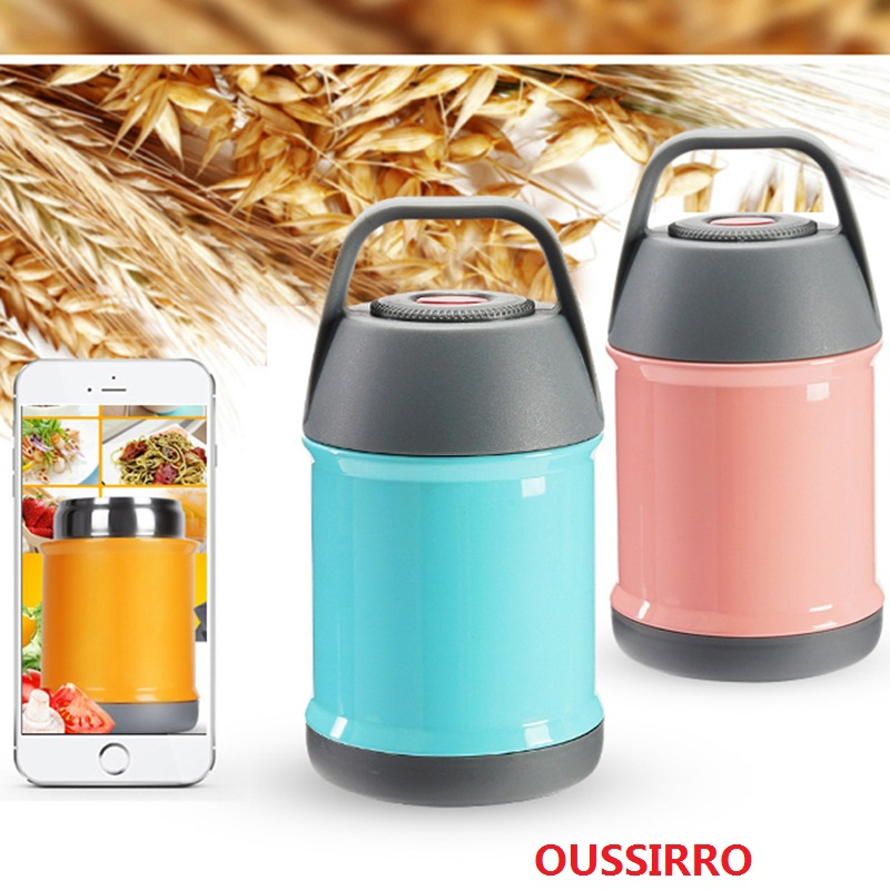 OUSSIRRO Fashion Outdoors Lunch Box Children Porridge Bucket Student Portable Thermos Healthy Living Daily Lunch Tools ...
