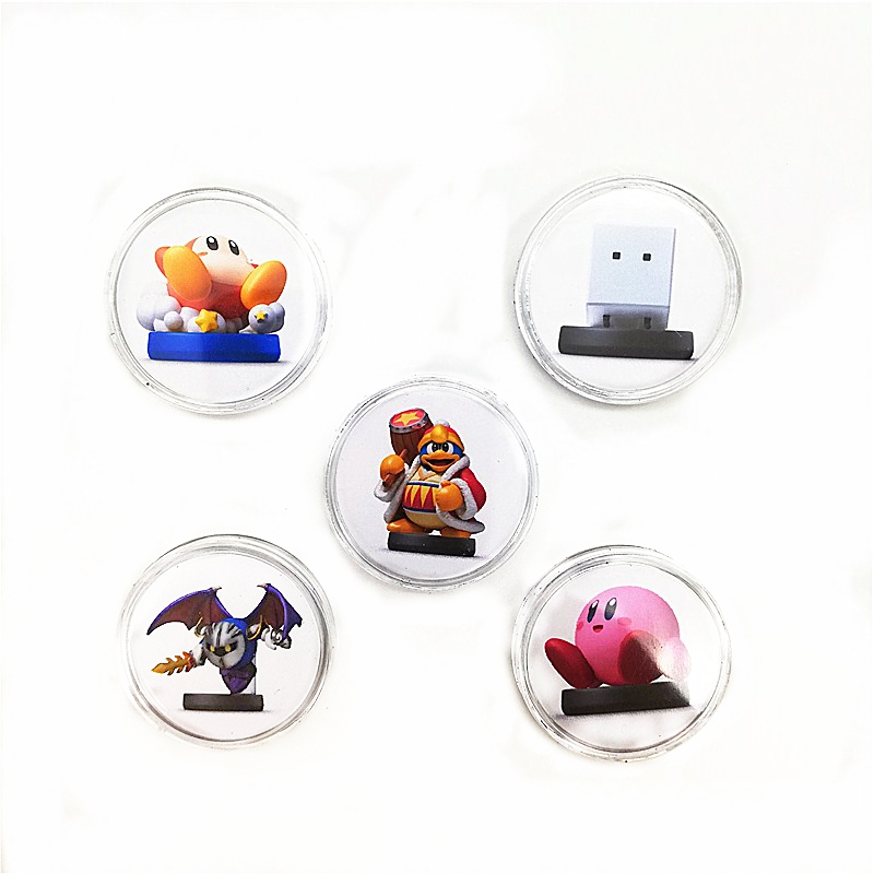 5Pcs/lot New 2019 Data Kirby Star Allies For Amiibo Game Card Collection NFC Ntag215 Sticker Coin Tag Set Boybox Fast Shiping