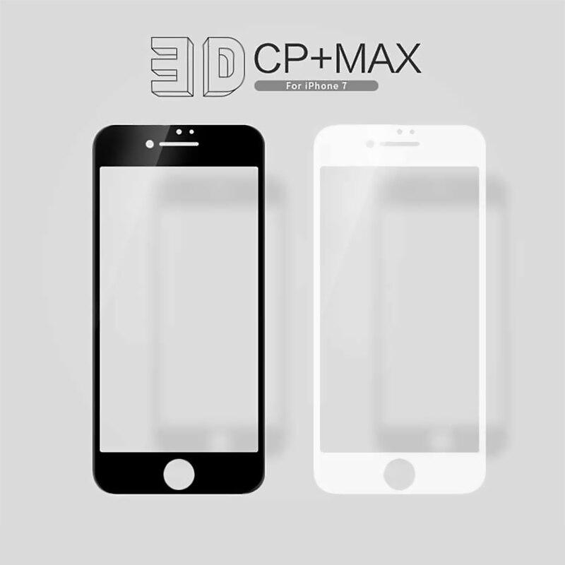 imágenes para Nillkin increíble de cuerpo completo 3d cp + max nanómetro anti-explosión de cristal templado 9 h protector de pantalla para iphone 7 4.7 pulgadas
