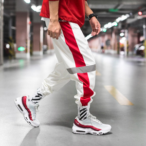 Image 1 - גברים מכנסי טרנינג Loose גברים רצים מכנסיים היפ הופ ספורט מסלול הרמון מכנסיים גברים Streetwear מכנסיים 4XL 5XL