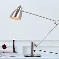 Satin Nickel Contemporary Adjustable Desk Lamp In Black Or Silver Swing Task Lamps With Marble Base