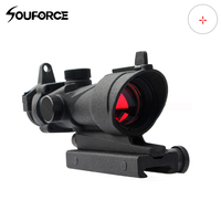 1X32 Red Dot Sight Frosted Optical Rifle Scopes Red Dot Scope With 20mm Rail Gun Accessory for Airsoft Hunting
