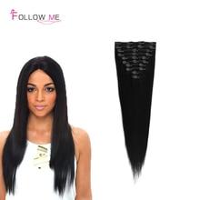 Brazilian Clip In Human Hair Extension 100g Brazilian Virgin Clip In Hair Thick Brazilian Virgin Hair Clip In Human Hair