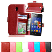 For Lenovo A319 Phone Cases Book Style Wallet PU Leather Case For Lenovo A 319 Skin