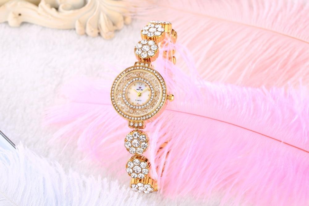 Zegarek marki BELBI Zegarek kwarcowy Ladies Gold Silver Fashion - Zegarki damskie - Zdjęcie 5