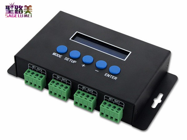 BC-204  DC5V-24V Artnet to SPI/DMX pixel light controller;Eternet protocol input;680pixels*4CH+ One port(1X512 Channels) output