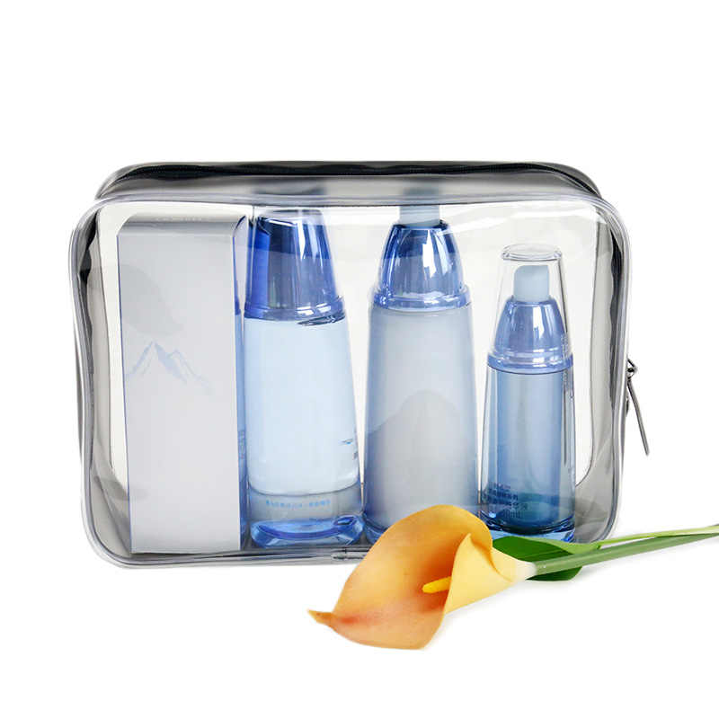 ELECOOL 1pc Environmental Protection PVC Transparent Makeup Cosmetic Bag Portable Travel Organizer Case Toiletry Bags For Women
