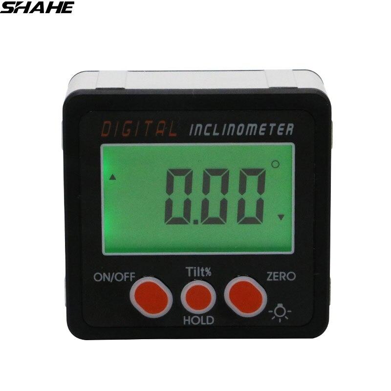 Mini inclinomètre à rapporteur numérique avec Rétro-éclairage Électronique Niveau bevel Box Base Magnétique À L'intérieur Instrument De Mesure Outils