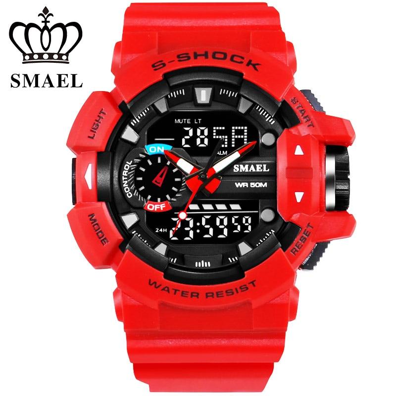 30M Waterproof Top Brand Men Watches Sport Dive LED Digital Clock Large Dial Dual Display Wristwatch