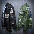 Men Winter Bomber Jacket Youth Plus Size Print Baseball Jacket Thick Warm Male Pilot Jacket Fashion Casual Nice Hip Hop Coat