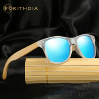 KITHDIA Wooden Sunglasses Men Women Vintage Clear Frame Sunglasses Summer Retro Drive Cool Polarized Sunglasses With Package