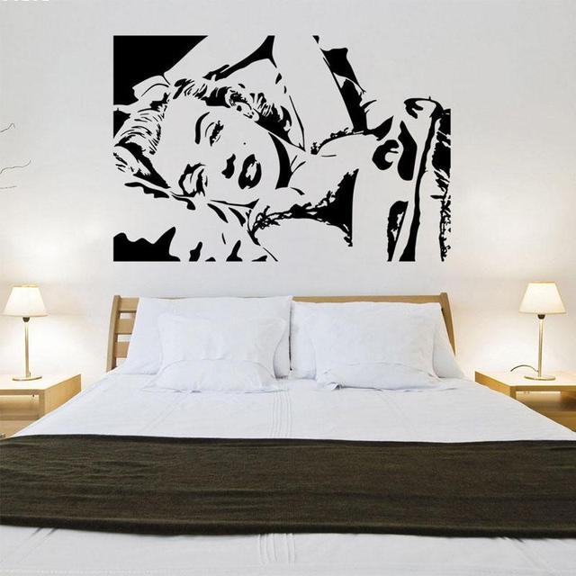 Creative Marilyn Monroe Wall Sticker Home Decor Waterproof Removable Wall  Stickers A2