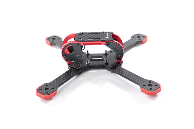 Transtec Fatty 218 3K 4mm Carbon Fiber 218mm Quadcopter Frame Kit w/ 7075 Metal Piece for FPV Drone