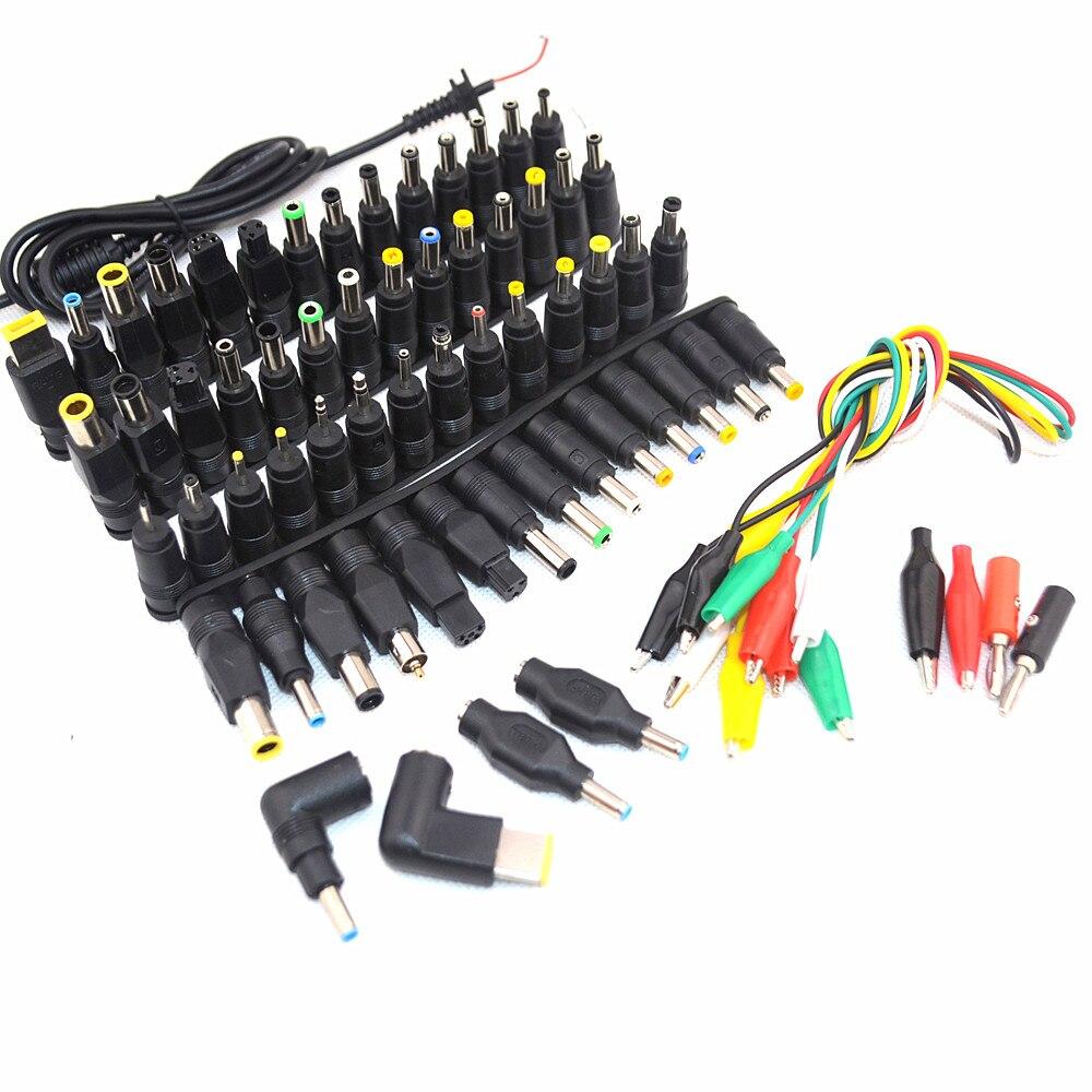 69 pcs Universal Laptop DC Conector do Adaptador de Alimentação Plug AC DC cabeça conversão Carregador Jack Conectores de Energia Do Laptop Adapte