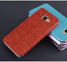 Новый Роскошный + Mofi Руи Книга crazy horse кожи с стальная пластина чехол для Samsung Galaxy A5 2016 A510 A510F бумажник чехол MF01