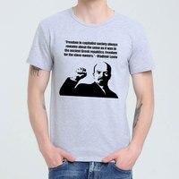 לנין הצעות מחיר Capitalism ברית המועצות הקומוניסטי הגדול חולצה למעלה לייקרה כותנה חולצה גברים
