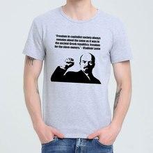 Lenin Quotes On Capitalism  Soviet union The great communist T-shirt Top Lycra Cotton Men T shirt