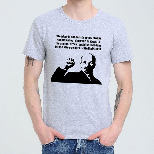0255d6ab620 Lenin Quotes On Capitalism Soviet union The great communist T-shirt Top  Lycra Cotton Men T shirt