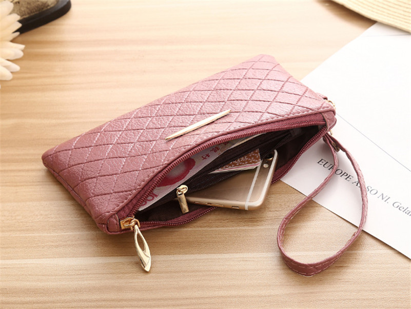 x04- Clutch Wallets for Women Solid PU Leather