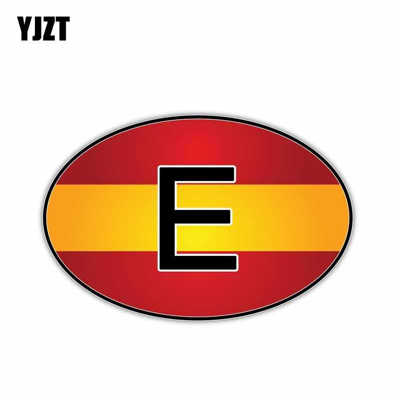 YJZT 15.4CM*10.1CM Personality Spain Country Code Decal Window Car Sticker 6-0932